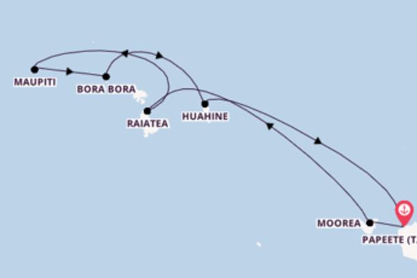 Einzigartige Reise über Maupiti in 7 Tagen