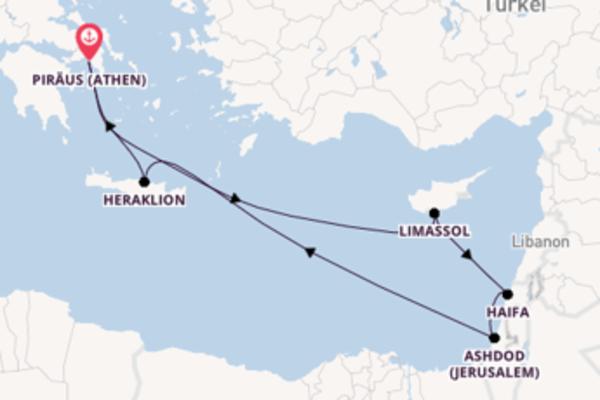 In 11 Tagen nach Piraeus