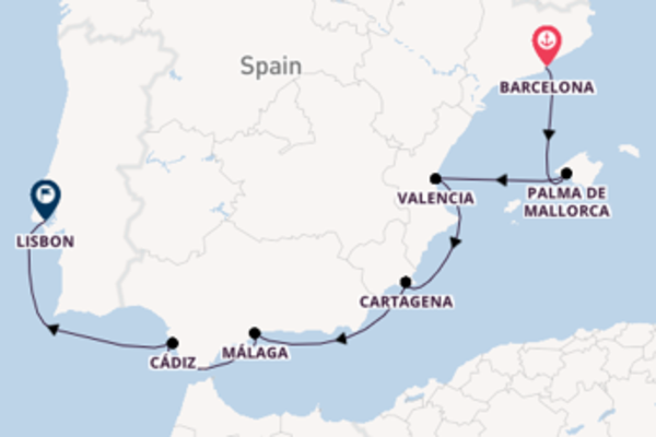 Journey with Silversea from Barcelona