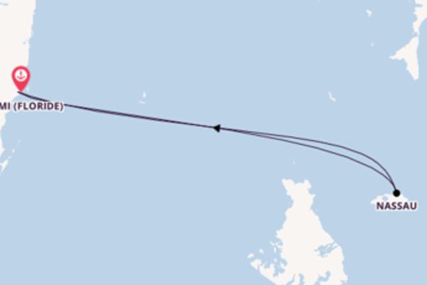 3 jours pour découvrir Nassau à bord du beateau Freedom of the Seas