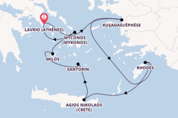 8 jours de navigation à bord du bateau Celestyal Crystal depuis Lavrio (Athènes)