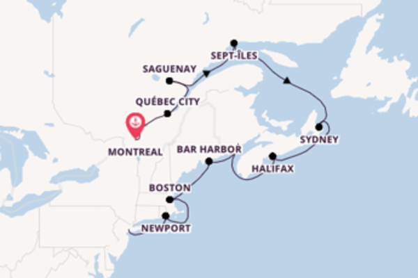 Voyage with Regent Seven Seas Cruises from Montreal