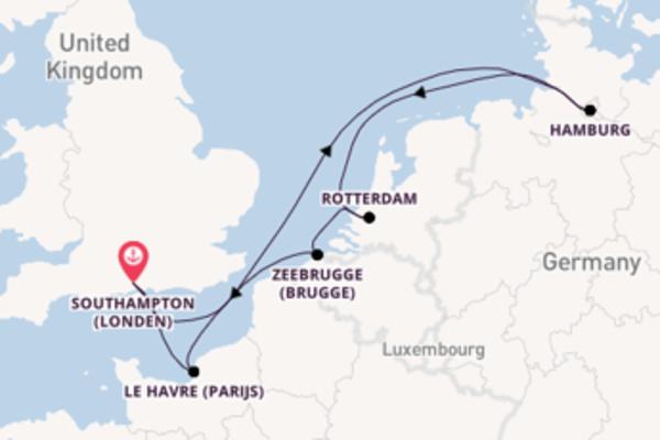 Cruise in 8 dagen naar Southampton (Londen) met MSC Cruises