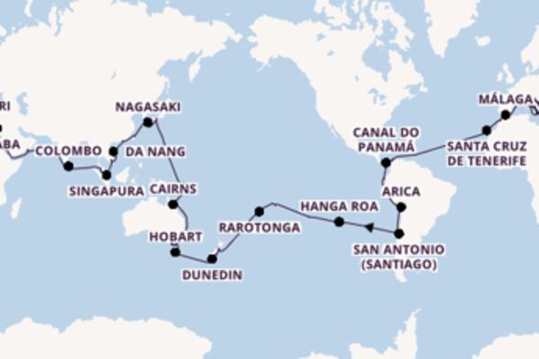 Navegando por 127 dias a bordo do Costa Deliziosa