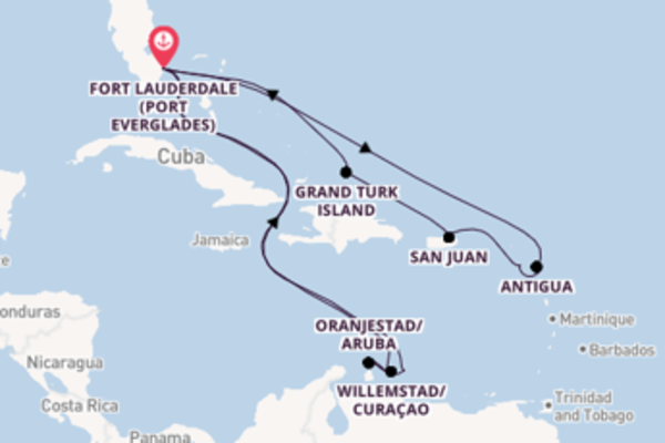Cruising from Fort Lauderdale (Port Everglades) via Grand Turk Island
