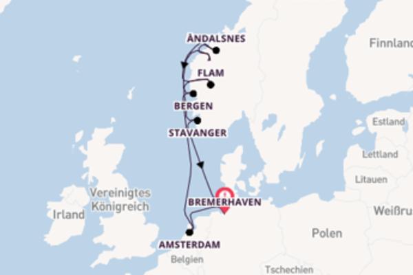 10 Tage Nordeuropa Kreuzfahrt