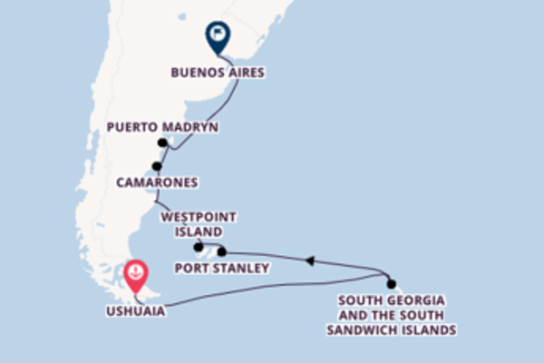 20 day expedition on board the Silver Wind from Ushuaia