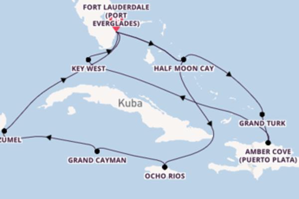 Fort Lauderdale und Grand Cayman erleben