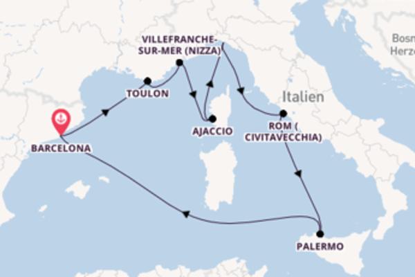 Erleben Sie 9 Tage Toulon und Barcelona