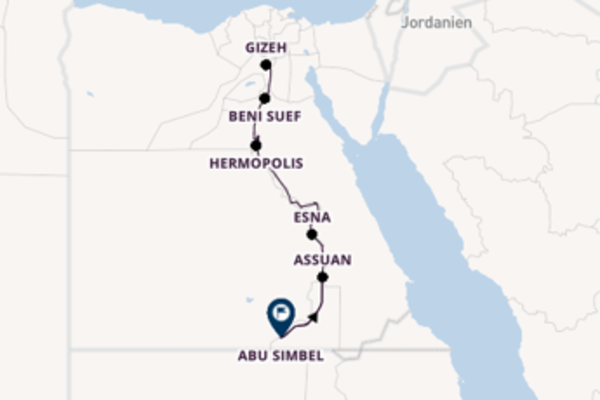 Der Nil zwischen Gizeh und Assuan