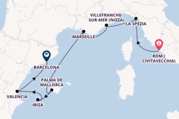 Rom (Civitavecchia) und La Spezia erkunden