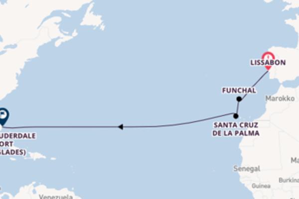Kreuzfahrt mit der Silver Dawn nach Fort Lauderdale (Port Everglades)