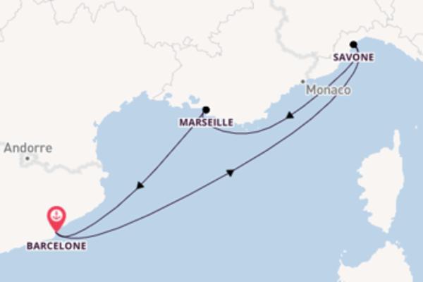 4 jours pour découvrir Savone au départ de Barcelone