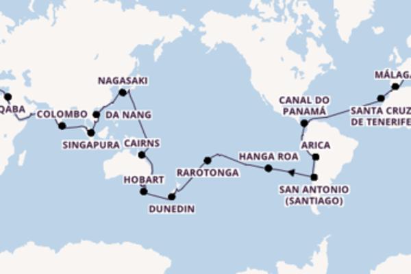 Mágica viagem de 114 dias até Savona