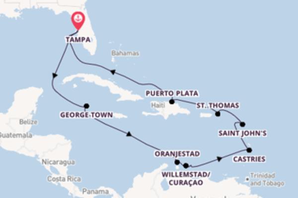 Suggestiva crociera da Tampa verso St. Thomas