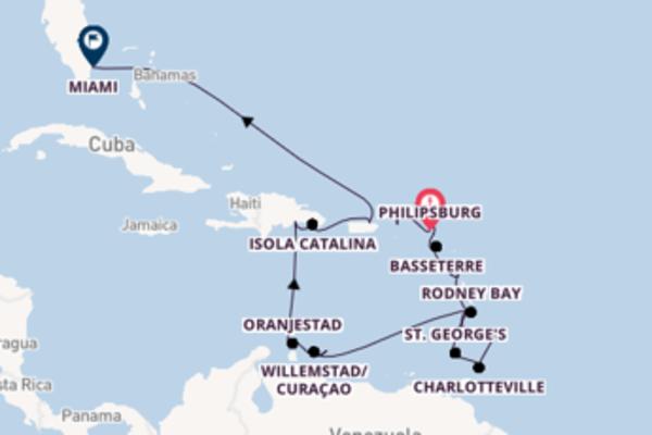 Da Philipsburg a Miami in 22 giorni
