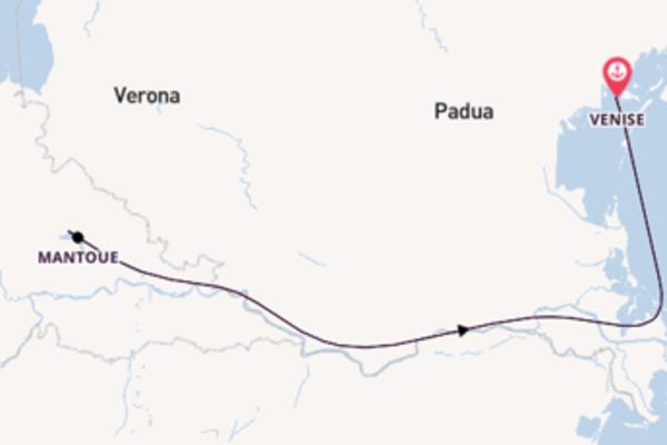 7 jours de navigation à bord du bateau Michelangelo depuis Venice