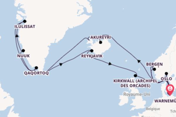 Ísafjarðardjúp depuis Warnemünde pour une croisière de 29 jours