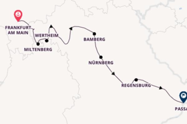 Von Frankfurt am Main über Nürnberg in 8 Tagen