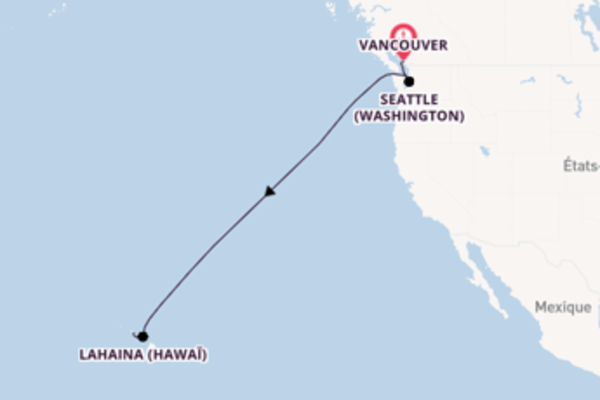 Joyeuse croisière vers Honolulu (Hawaï) via Seattle (Washington)
