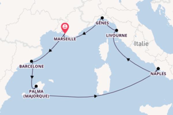 Explorez à bord du bateau MSC Seaside, la destination: Barcelone