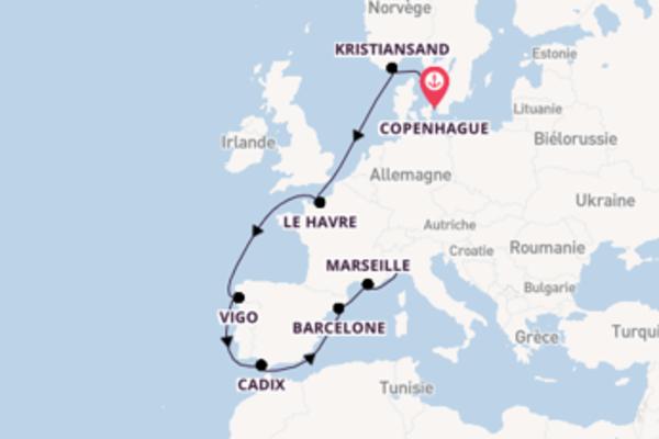 Agréable croisière vers Savone via Cadix