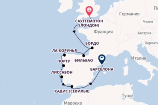 Саутгемптон (Лондон) - Барселона с Regent Seven Seas Cruises