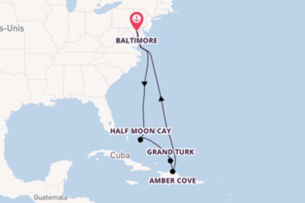 Grand Turk, depuis Baltimore à bord du bateau Carnival Legend