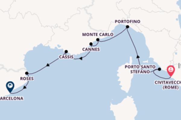 Cruise in 8 dagen naar Barcelona met SeaDream Yacht Club