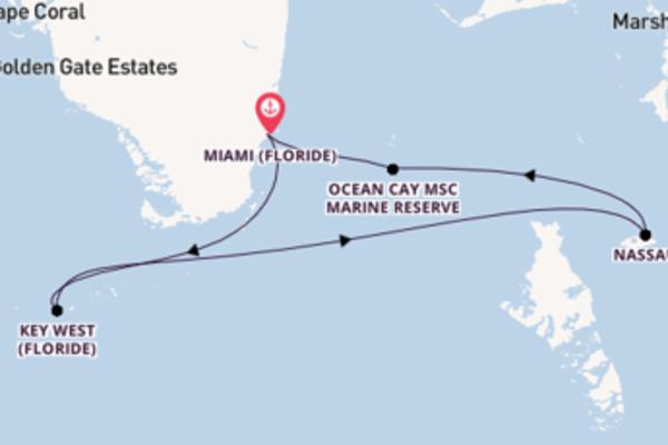 Croisière de 8 jours depuis Miami (Floride) avec MSC Croisières