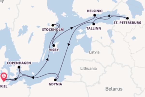 12 day journey on board the MSC Splendida from Kiel