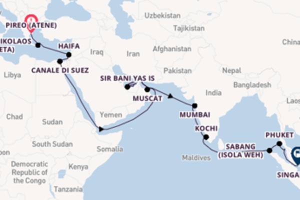 Estasiante viaggio di 36 giorni a bordo di Seabourn Encore