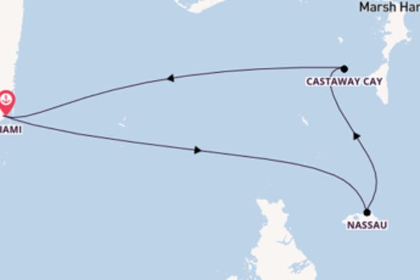 Cruise naar Miami via Nassau