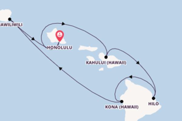 8-tägige Kreuzfahrt bis Honolulu