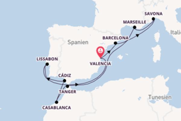 In 12 Tagen nach Valencia