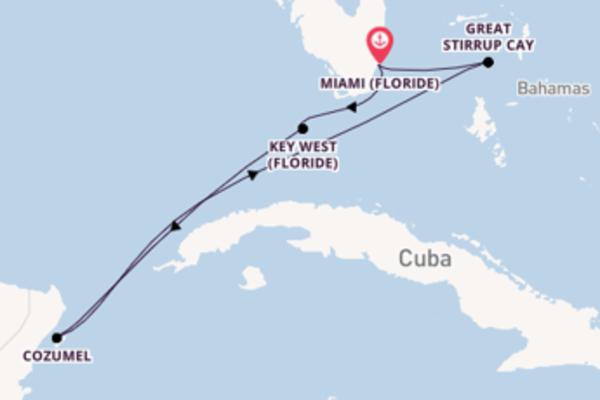 Cozumel, depuis Miami (Floride) à bord du bateau Norwegian Sky