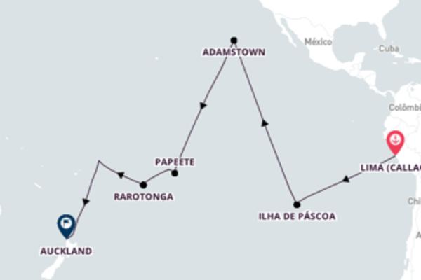 Formidável viagem de 24 dias até Auckland