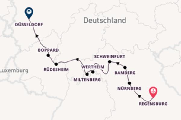 10-tägige Kreuzfahrt ab Regensburg