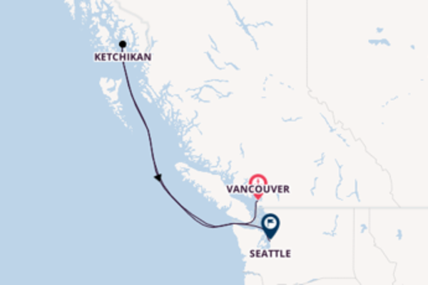Sailing with Princess Cruises from Vancouver to Seattle