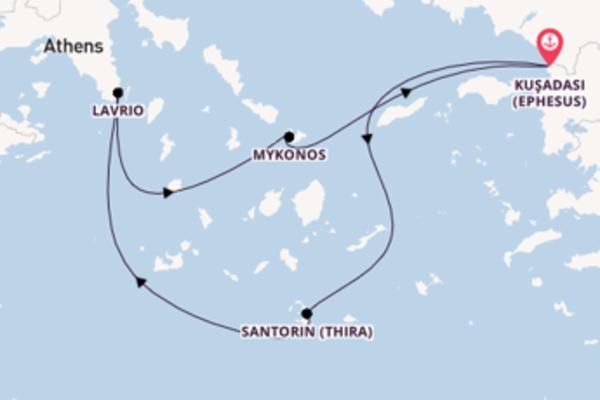 Faszinierende Kreuzfahrt mit der Celestyal Olympia