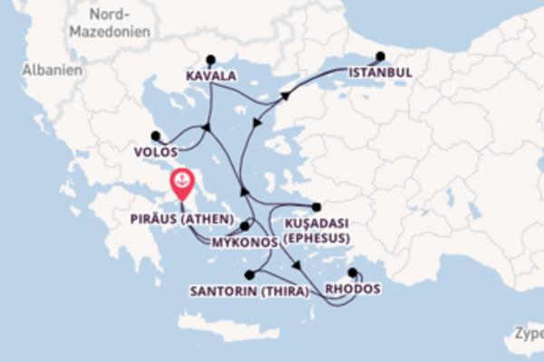 11-tägige Kreuzfahrt ab Piräus (Athen)