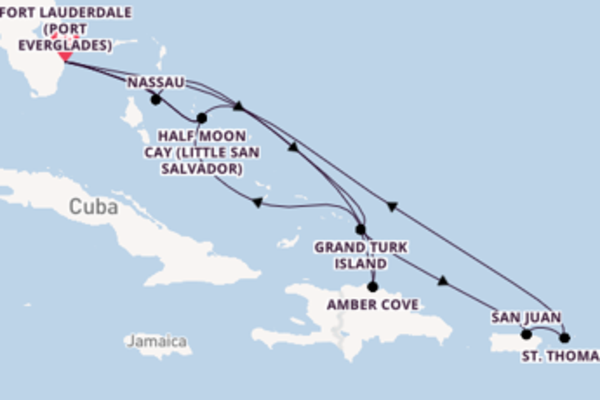 15 day expedition on board the ms Nieuw Amsterdam from Fort Lauderdale (Port Everglades)