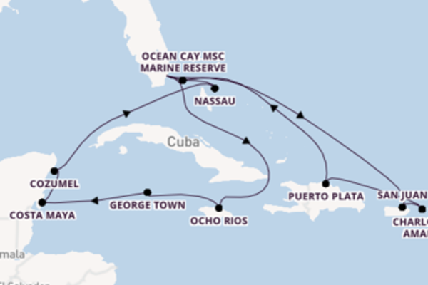 Magnificent trip from Miami with MSC Cruises
