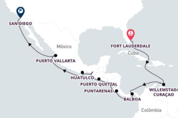 A bordo do Zaandam em uma viagem de 18 dias