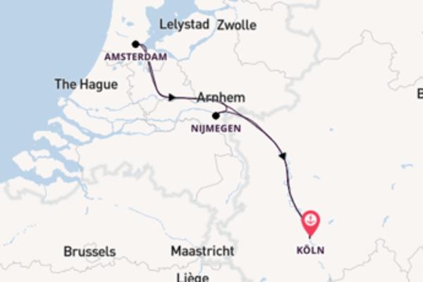 Köln und Amsterdam genießen