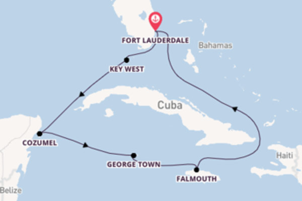 8-daagse cruise met de Celebrity Reflection vanuit Fort Lauderdale