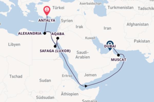 Erkunden Sie 17 Tage Safaga (Luxor) und Dubai