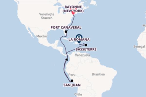 Entdecken Sie Bayonne (New York), Miami und La Romana