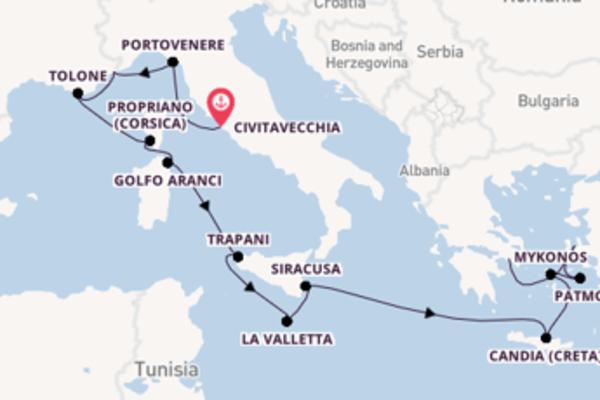 15 giorni di crociera fino a Pireo (Atene)