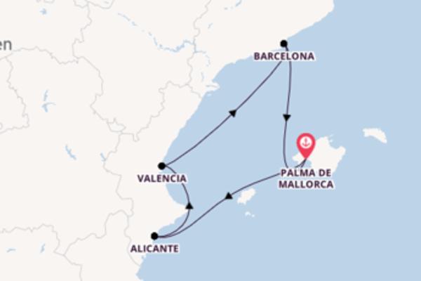 Herrliche Reise ab Palma de Mallorca